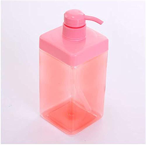 Flacon de Voyage 2 pcs shampooing Gel Douche Bouteille Presse Type de Lavage des Mains Liquide 8 * 8 * 21.5 cm Rose