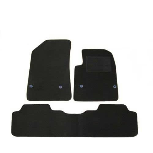 FULLY TAILORED CAR MATS BLACK CARPET WITH GREY EDGING CITROEN C5 2008