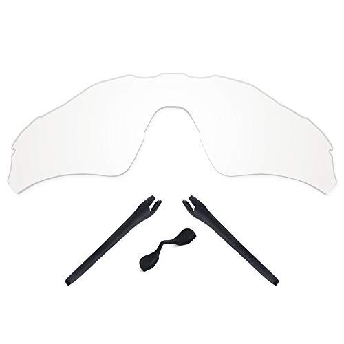 TheRobusta lentes polarizadas estampadas de repuesto y kits de goma para Oakley Radar EV Path OO9208 – Múltiples opciones, Hd Clear no polarizado, 0 US