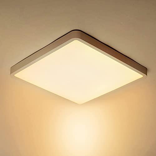 Anonry Lámpara de Techo 36W, 4050LM Cuadrada Plafón LED de Techo Interior...