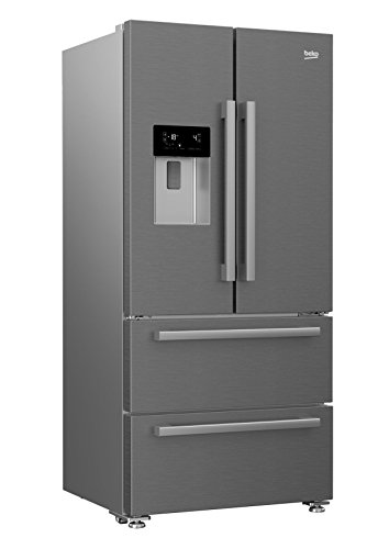 Beko GNE60530DX nevera puerta lado a lado Independiente Plata, Acero inoxidable 530 L A++ - Frigorífico side-by-side (Independiente, Plata, Acero inoxidable, Puerta francesa, LED, Tocar, LCD)