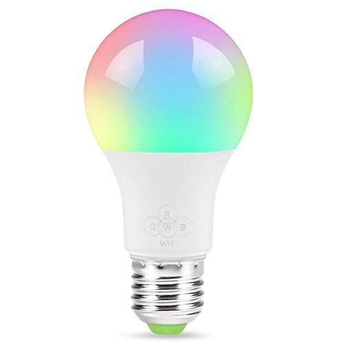 LiulingWSH LED Smart Light Bulbs, RGB Color Changing LED Bulbs Compatible with Amazon Alexa & Google Home Assistant,Remote Control, 2.4Ghz WiFi Only, No Hub Required