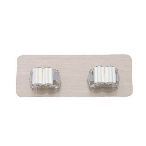 Guangcailun 2ST stark klebendes Non Marking Mopgestells Clip Multifunktions Besen Einhängegestell Adhesive Saughaken zweireihig