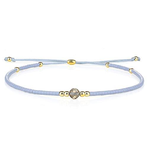 KELITCH Neue Achat Perlen Strang Armbänder Miyuki Perlen Freundschaft Armbänder für Frauen