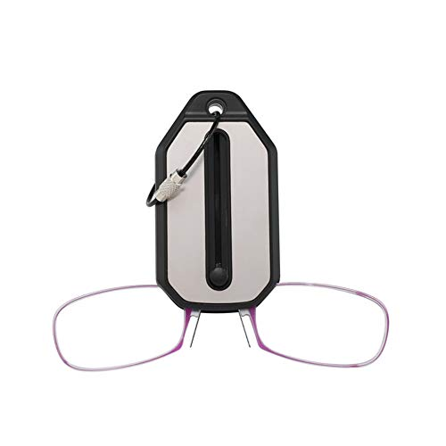 Leesbril heren / dames, goede bril, hoogwaardig, rechthoekig, comfortabel, super leeshulp, voor mannen en vrouwen 2.5x Dioptrien lila