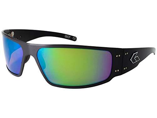 Gatorz Magnum Sonnenbrille, Metallaluminiumrahmen, Militär Tactical Style, polarisiert Braun/Grün-Spiegel-Objektiv Schwarz