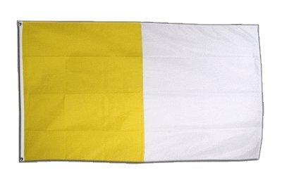 Fahne / Flagge gelb-weiß + gratis Sticker, Flaggenfritze®