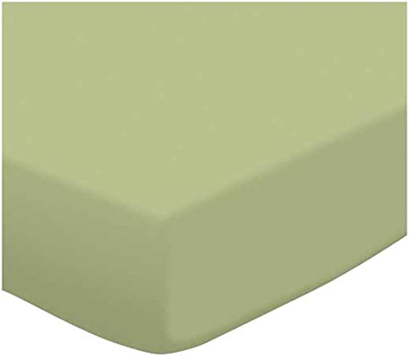 Fitted Oval Crib Sheet Stokke Sleepi Solid Sage Jersey Knit Made In USA