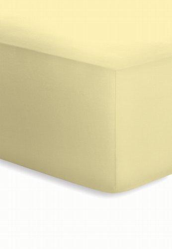 Schlafgut Boxspring Spannbetttuch für Matratzen mit oder ohne Topper, für Höhen von ca. 25 - 40 cm - Grösse 180/200 x 190/200/210/220 cm - Härtegrad 008 - Kamille