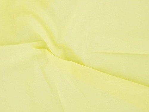 Dalston Mill Fabrics katoenmengweefsel, pale geel, 4m