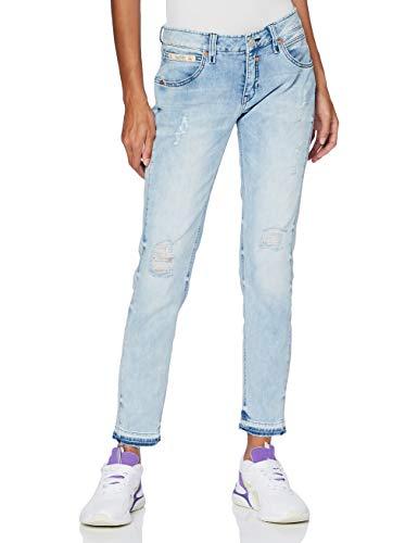 Herrlicher Damen Touch Cropped Jeans, Ice Destroy 850, 28