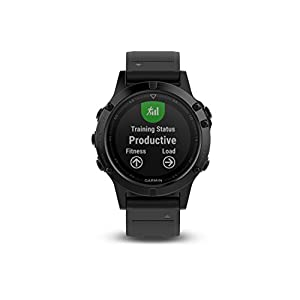 Garmin fēnix 5 Performance Bundle, Premium and Rugged Multisport GPS Smartwatch, Includes Heart Rate Strap, Sapphire Glass, Black