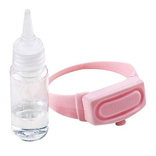 Aemiy Dispensador de desinfectante de manos, 1/2/4 piezas portátil de silicona para jabón de mano, correa dispensadora de mano para botellas de gel líquido, correa de muñeca para adultos y niños