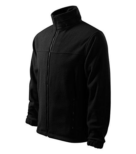 OwnDesigner by Adler Herren Fleecejacke Freizeitjacke Outdoor Pullover Fleece (501-Schwarz-M)