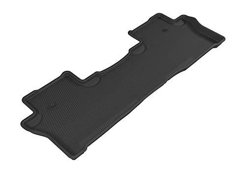 3D MAXpider Second Row Custom Fit All-Weather Floor Mat for Select Honda Pilot Models - Kagu Rubber (Black)