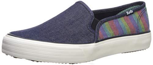 Keds Women's Double Decker Denim Stripe Sneaker, Navy Multi, 6.5 M US
