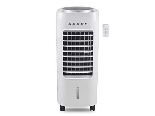 Beper P206RAF100 Raffrescatore, Purificatore, Umidificatore, Refrigeratore, Serbatoio 6L, 3 Velocità, 4 Modalità, Con Ruote, Timer 12H e Telecomando, Air Cooler