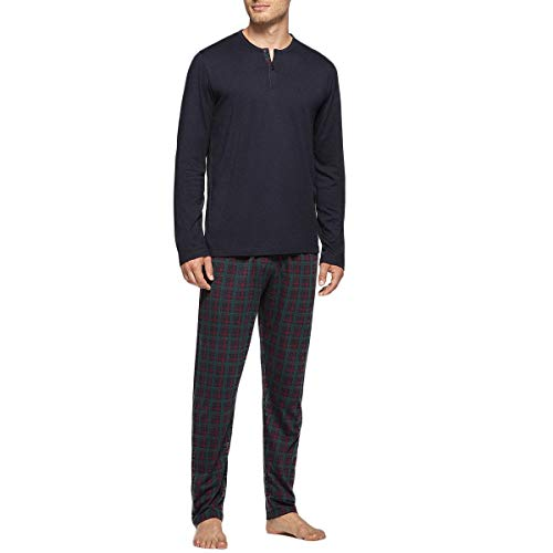 IMPETUS Pyjama Schottenhose Gr. X-Large, Marineblau