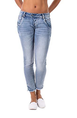 Blue Monkey Damen Manie 10202 Blue Denim Skinny Jeans (W25/L27)