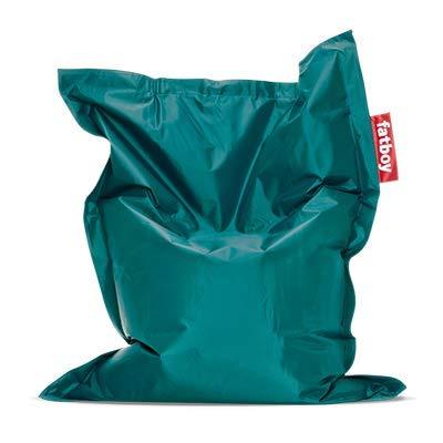 Fatboy® Original Sitzsack Junior | Klassisches Indoor Sitzkissen speziell für Kinder in Türkis | 130 x 100 cm