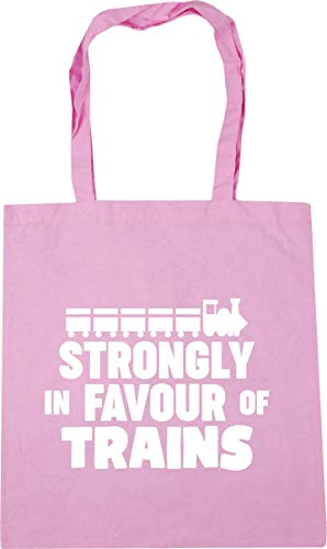 Hippowarehouse Strongly in favour of Trains Tote Shopping Gym Beach Bag 42cm x38cm, 10 litres