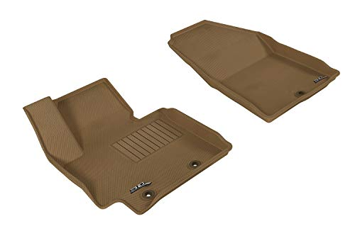 3D MAXpider Front Row Custom Fit All-Weather Floor Mat for Select Models - Kagu Rubber (Tan)