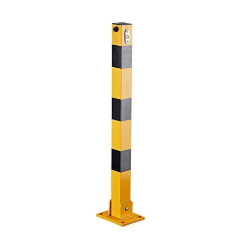 LJFYMX Barrera Parking Bolardos metálicos de Servicio Pesado, bolardos for interceptores de estacionamiento en carriles (columnas cuadradas) cepo Parking