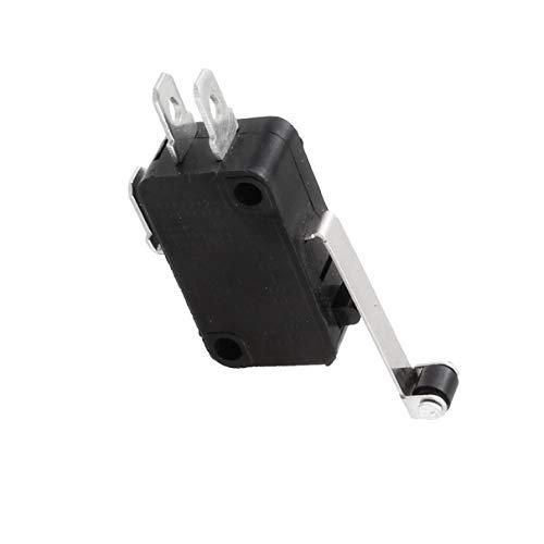 Aexit Interruptor de botón pulsador eléctrico 1NO 1NC de palanca de rodillo...