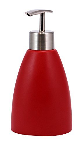 kieragrace Cleo Ceramic Lotion Dispenser, Matte Red