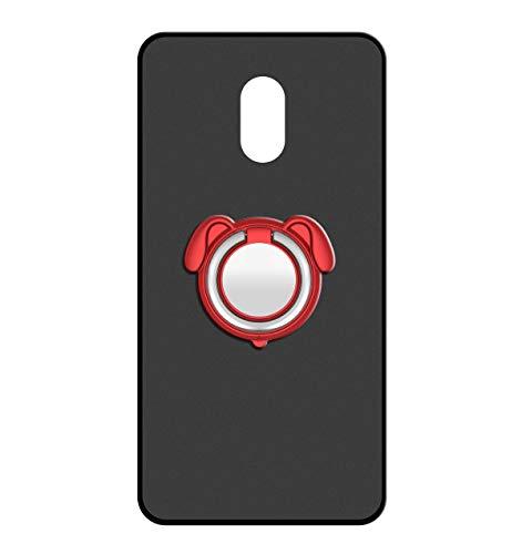 Sunrive Für DOOGEE X9/DOOGEE X9 Pro Hülle Silikon, 360°drehbarer Ständer Ring Fingerhalter Fingerhalterung Handyhülle matt Schutzhülle Etui Case (Farbe rot) MEHRWEG