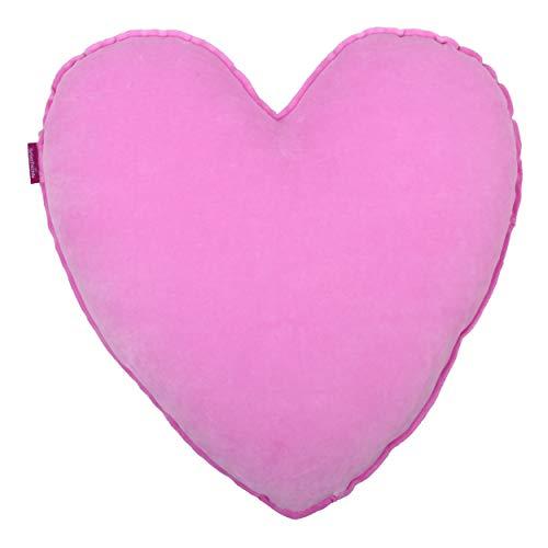 Farbenfreunde Kissen Herz komplett, Dekokissen, Schlafkissen, gefüllt, Baumwolle, Polyester, ice rose, 50cm, 1008k230