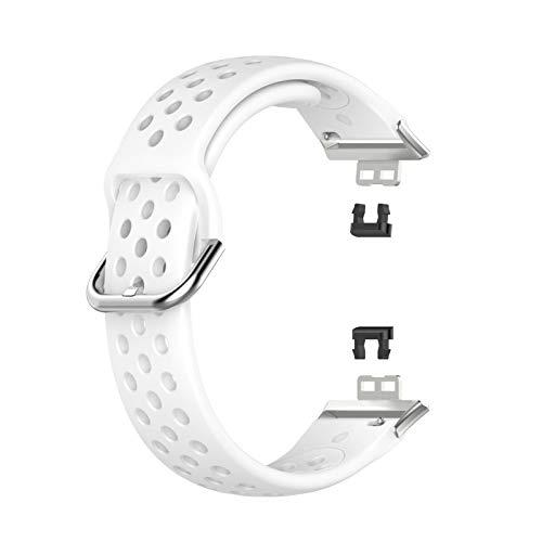 Poxcap correa de reloj correa de repuesto silicona mujeres hombres bandas de silicona relojes y smartwatches serie universal reloj pulsera acero inoxidable cierre de metal apto para reloj HUAWEI