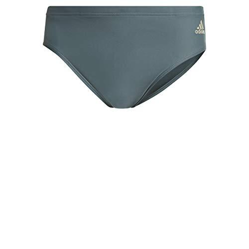 adidas Fit TR 3s Costume da Bagno da Uomo, Uomo, Costume da Bagno, GM3565, Emeral/Azmatr, L
