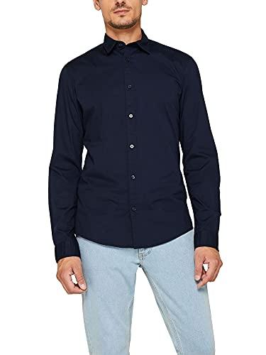 ESPRIT Popeline-Hemd aus Baumwoll-Stretch