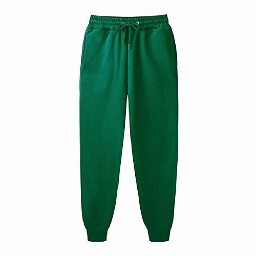 N\P Pantalones de chándal para hombre para hacer deporte, ajustados verde XL