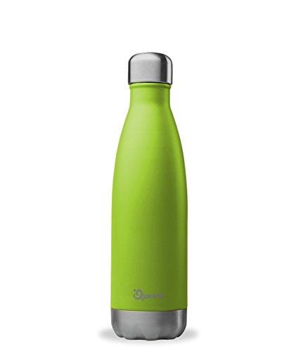 QWETCH – Isolierflasche Edelstahl 500 ml – Hält Ihre Getränke 12 Stunden warm und 24 Stunden kühl – BPA free –anisgrün