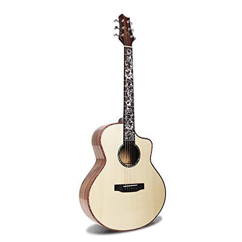 WH-IOE del Mismo tamaño acústica Guitarra Principiantes De Gama Alta Ronda Missing Guitarra de 42 Pulgadas Popular balada Picea de la Guitarra de Madera de Acacia Individual para Principiantes