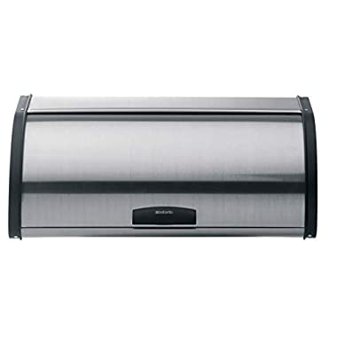 Brabantia Roll Top Bread Box - Matte Steel Fingerprint Proof