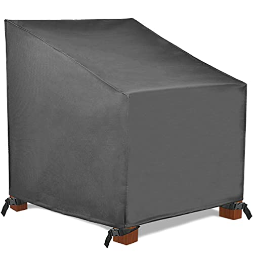 Patio Watcher Standard Patio Chair Cover, Durable and Waterproof Outdoor Furniture Chair Cover,Grey