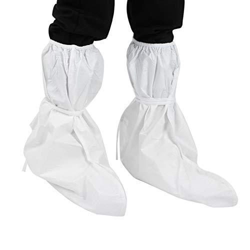 FOLOSAFENAR Funda para Zapatos de Laboratorio de Tela no Tejida Funda Impermeable para Botas Funda para Zapatos no Tejida a Prueba de Polvo, Laboratorio