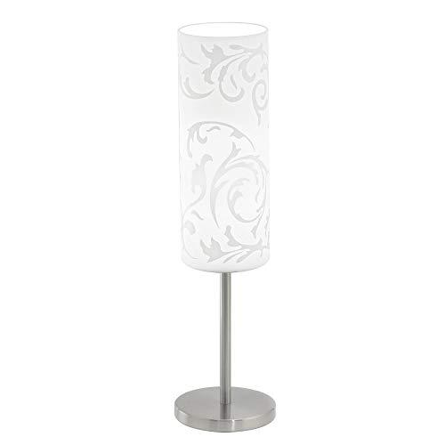 EGLO tafellamp, staal, E27, nikkel mat, 10,5 x 10,5 x 46 cm