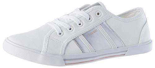 Kappa DELSOL, Zapatillas Deportivas para Mujer, Blanco/Plata, 40 EU