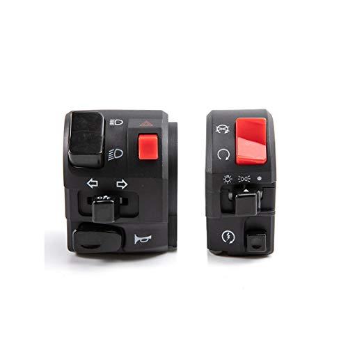 Interruptor universal para motocicleta 7/8 pulgadas, 22 mm, botón de claxon, intermitente para faros antiniebla, luz de arranque, interruptor de control eléctrico