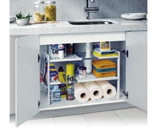 2-tier modular shelving for interior cabinets and furniture (50x70x40 cm)