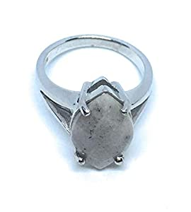 pwlgem Natural Hackmanite UV Color Change 925 Sterling Silver Ring (Untreated) Mogok