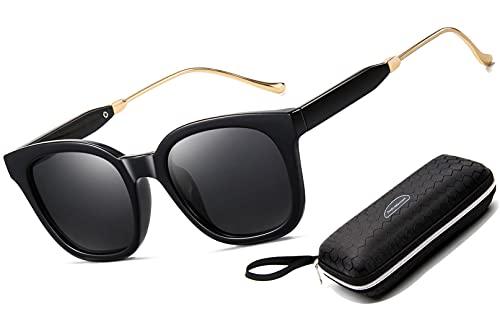 Pack de 3 Gafas de Sol Hombre Mujer Polarizadas CAT 3 CE UV400 Gafas retro clásicas Conducción Correr Ciclismo Pesca Golf Verano Turismo Gafas de sol (1 pack (black B))