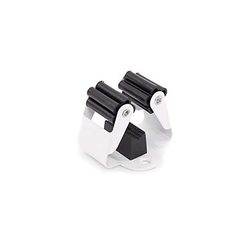 Malin-System - Besenhalter 6er Set (Inkl. Schrauben Dübel) - Wandhalter aus Federstahl - Wandhalterung Gerätehalter
