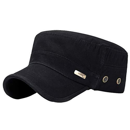 Fenverk Herren Baseball Cap Classic Vintage Cotton Basecap Snapback Caps Outdoor Kappe MüTze Unisex Kappen Hut Frauen MäNner(B Schwarz)