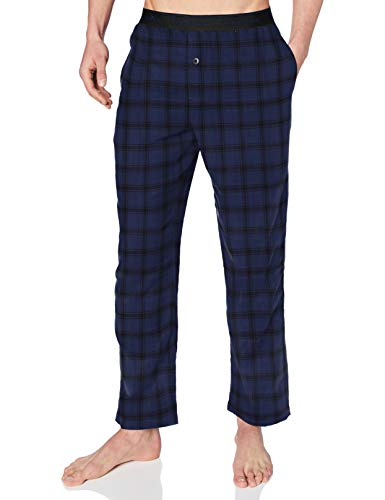 Calvin Klein Sleep Pant Pantalón de Pijama, Rocky Plaid_Chino Blue, XL Unisex Adulto