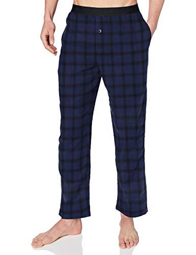 Calvin Klein Sleep Pant Pantalón de Pijama, Rocky Plaid_Chino Blue, L Unisex Adulto
